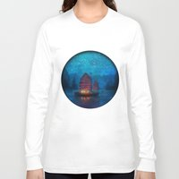 tapestry Long Sleeve T-shirts featuring Our Secret Harbor by Aimee Stewart