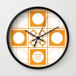 Design Principle SIX - Pattern Wall Clock