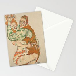 Egon Schiele - Lovemaking Stationery Cards
