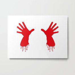 Bleeding Hands Metal Print