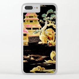 oriental pagodas Clear iPhone Case
