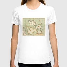 Vintage Map of The British Isles (1707) T-shirt