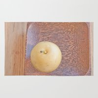 asian Area & Throw Rugs featuring Asian Pear by Lyssia Merrifield