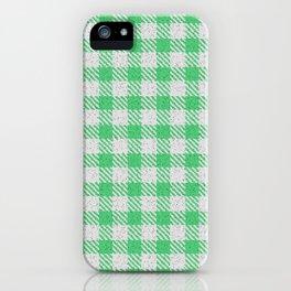 Emerald Buffalo Plaid iPhone Case