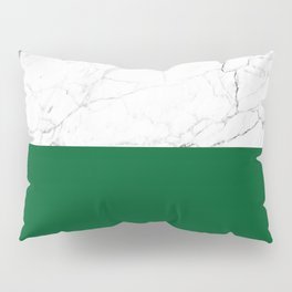 emerald green and white marble Pillow Sham