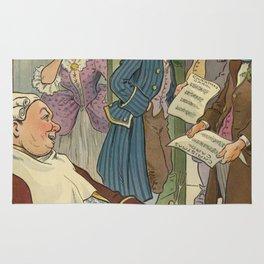 Vintage Christmas Caroling Illustration (1903) Rug