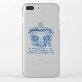 NAVY VETERAN Clear iPhone Case