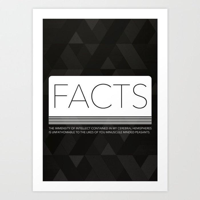 FACTS   Dark Art Print