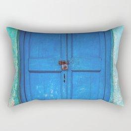 Blue Indian Door Rectangular Pillow
