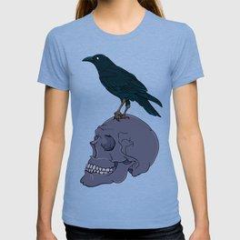 Raven On A Human Skull T-shirt