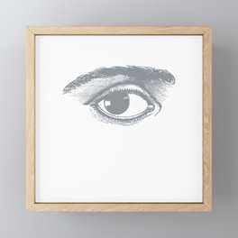 I see you. Gray on White Framed Mini Art Print