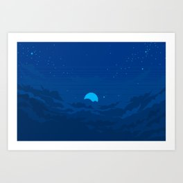 Moonburst V3 Art Print