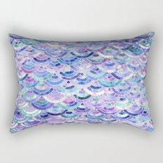 Marble Mosaic in Amethyst and Lapis Lazuli Rectangular Pillow