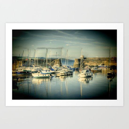 Lomo Boats 2 Art Print