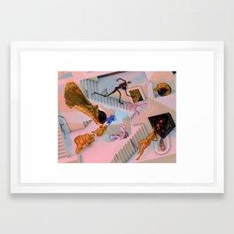 Hexagon Sun Framed Art Print