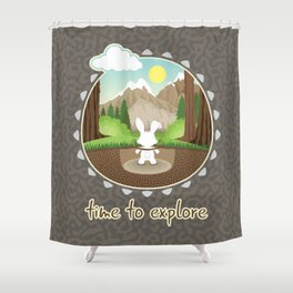 Time to explore Shower Curtain