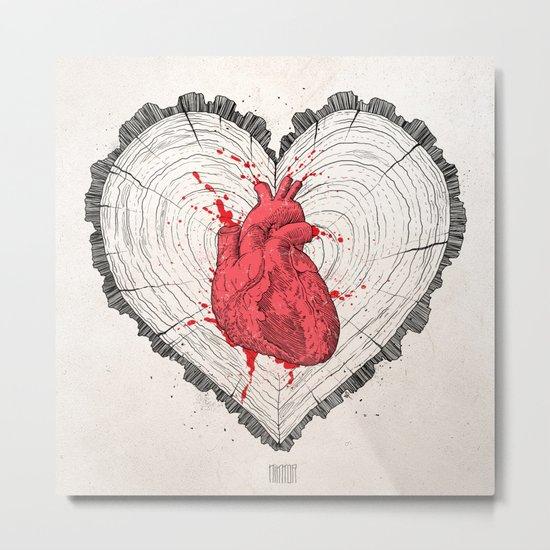 wooden heart Metal Print
