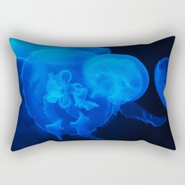 Blue Jelly Fish Rectangular Pillow