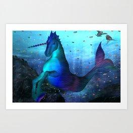 Sea Unicorn Art Print