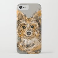 yorkie iPhone & iPod Cases featuring Yorkie by Sam Bock