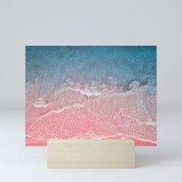 Bahamas pink blue Mini Art Print