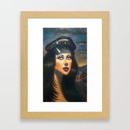 """Biker Girl 2"" Framed Art Print"