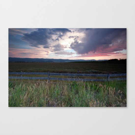 Sunset in Star Valley Canvas Print