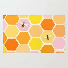 Busy As A Bee In A Hive Rug