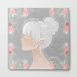 Her Silhouette Metal Print