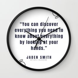 4  |  Jaden Smith Quotes | 190904 Wall Clock