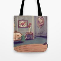shabby chic Tote Bags featuring Shabby Chic by Ben Geiger