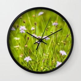 Flowery meadow Wall Clock