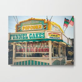 Funnel Cakes at the Carnival Metal Print