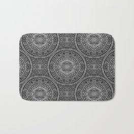 Tangled Mandala Pattern Bath Mat