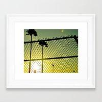 santa monica Framed Art Prints featuring Santa Monica by Nicole Stamsek