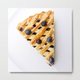 Blueberry Pie Metal Print