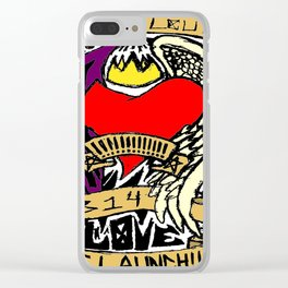 Both Sides of Love Clear iPhone Case
