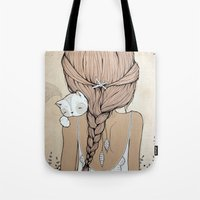 murray Tote Bags featuring Stay Close by Kelli Murray