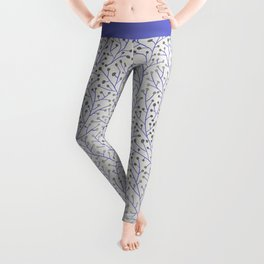 Silver & Periwinkle Berry Branches Leggings