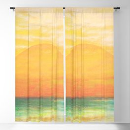 Summer Sunset Blackout Curtain