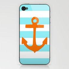 Orange Nautical Stripe iPhone & iPod Skin