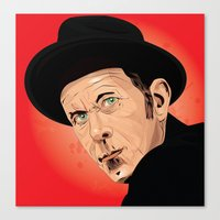 tom waits Canvas Prints featuring Tom Waits by Brian Madden