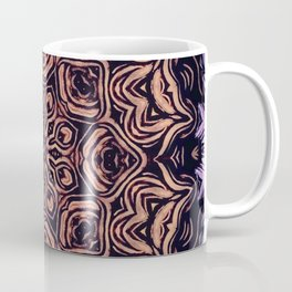Strange Days // Psychedelic Trippy Dark Visionary Art Circle Abstract Orange Purple Black Coffee Mug