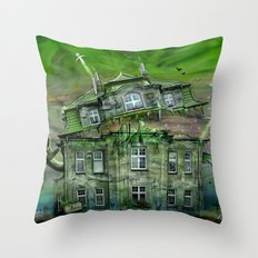 The Ghosthouse Throw Pillow