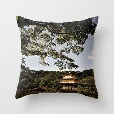 Kinkakuji/The Golden Pavilion, Kyoto Throw Pillow