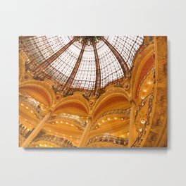 Galeries Lafayette Stained Glass Dome Metal Print