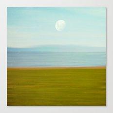 Moon on Beach Canvas Print