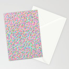 it's raining sideways! rainbow edition Stationery Cards