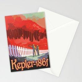 Kepler-186 : NASA Retro Solar System Travel Posters Stationery Cards