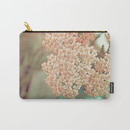 Botanical Still Life Yarrow in Apricot and Jade Carry-All Pouch